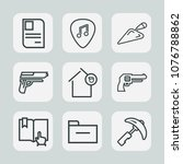 premium set of outline icons.... | Shutterstock .eps vector #1076788862