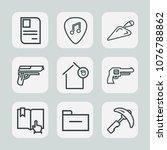 premium set of outline icons....   Shutterstock .eps vector #1076788862