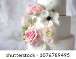 Wedding Cake With Flowers...
