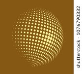 abstract globe dotted sphere ...   Shutterstock .eps vector #1076790332