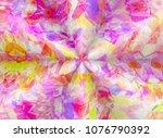 abstract kaleidoscope... | Shutterstock . vector #1076790392