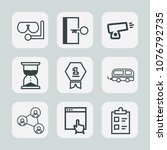 premium set of outline icons.... | Shutterstock .eps vector #1076792735