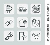 premium set of outline icons.... | Shutterstock .eps vector #1076792846