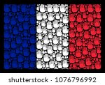 france flag collage done of...   Shutterstock .eps vector #1076796992