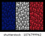 france state flag composition... | Shutterstock .eps vector #1076799962