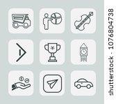premium set of outline icons.... | Shutterstock .eps vector #1076804738