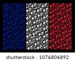 france national flag collage... | Shutterstock .eps vector #1076806892