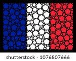 french national flag...   Shutterstock .eps vector #1076807666