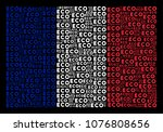 france flag concept constructed ... | Shutterstock .eps vector #1076808656