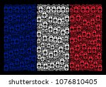 french state flag collage... | Shutterstock .eps vector #1076810405