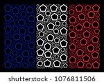 france state flag mosaic...   Shutterstock .eps vector #1076811506