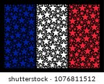 french national flag mosaic... | Shutterstock .eps vector #1076811512
