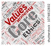 conceptual core values... | Shutterstock . vector #1076812832