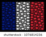 france flag collage organized... | Shutterstock .eps vector #1076814236