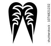 tribal tattoo vector designs... | Shutterstock .eps vector #1076821232