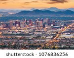 phoenix  arizona  usa downtown... | Shutterstock . vector #1076836256