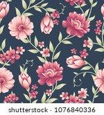 seamless vintage flower pattern ...