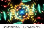 golden abstract background... | Shutterstock . vector #1076840798