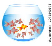 a wonderful concept of fish in...   Shutterstock .eps vector #1076840975