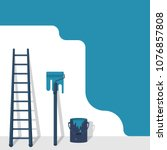 painting service. paintwork... | Shutterstock .eps vector #1076857808