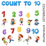 mathematics card couting number ... | Shutterstock .eps vector #1076865422