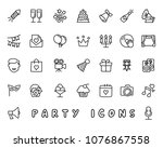 party hand drawn icon design... | Shutterstock .eps vector #1076867558