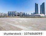 empty floor with modern... | Shutterstock . vector #1076868095