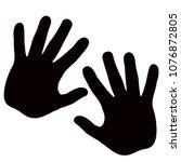 silhouette model palm people....   Shutterstock .eps vector #1076872805