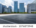 empty road with modern business ... | Shutterstock . vector #1076873948