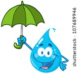Smiling Water Drop With...