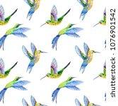 pattern bird seamless.... | Shutterstock . vector #1076901542
