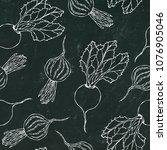 black chalk board. seamless... | Shutterstock .eps vector #1076905046