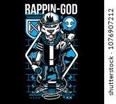 rappin god illustration   Shutterstock .eps vector #1076907212