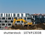 construction of new houses | Shutterstock . vector #1076913038