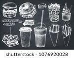 street food festival menu.... | Shutterstock .eps vector #1076920028