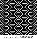 Stock vector hexagons texture seamless geometric pattern vector art 107693435