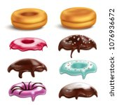 cookies biscuits cupcakes... | Shutterstock .eps vector #1076936672