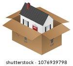 real estate moving house... | Shutterstock .eps vector #1076939798