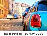 rear light closeup. back lights ... | Shutterstock . vector #1076943038