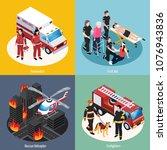 rescue team 2x2 design concept... | Shutterstock .eps vector #1076943836