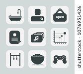 premium set of fill icons. such ... | Shutterstock .eps vector #1076951426