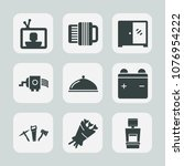 premium set of fill icons. such ... | Shutterstock .eps vector #1076954222