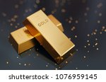 stacked gold bars golden ingot...   Shutterstock . vector #1076959145