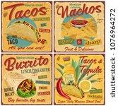 Mexican Food Vintage Vector...