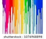 rainbow colors of paint... | Shutterstock . vector #1076968898