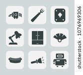 premium set of fill icons. such ... | Shutterstock .eps vector #1076969306