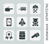 premium set of fill icons. such ... | Shutterstock .eps vector #1076972762