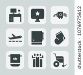 premium set of fill icons. such ... | Shutterstock .eps vector #1076975612