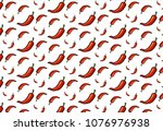 hot chilli peppers pattern... | Shutterstock .eps vector #1076976938