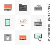 modern flat icons set of modern ... | Shutterstock .eps vector #1076977892